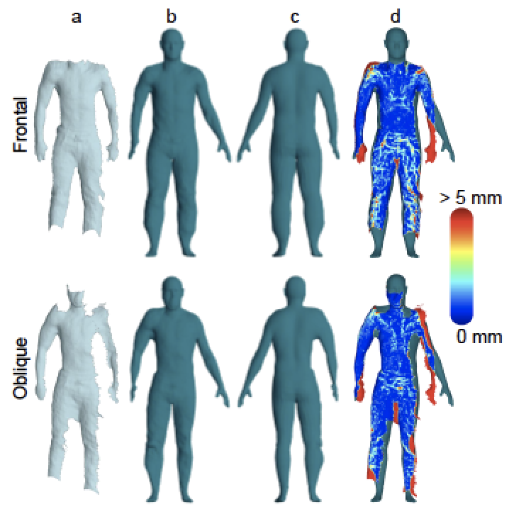 Efficient Body Registration Using Single-View Range Imaging and Generic Shape Templates